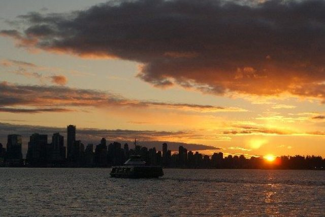 Vancouver Sunset from Lonsdale Quay
