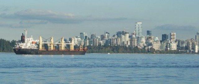 Vancouver Skyline and Ship