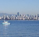 View of Vancouver across the water from Jericho Beach