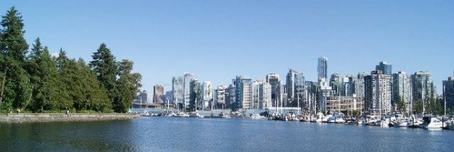 Vancouver and Coal Harbour from Stanley Park