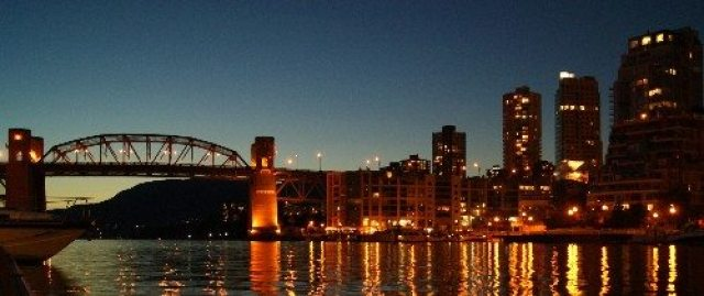 Evening view from Granville Island