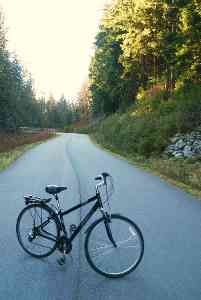 Bicycle on the Seymour Valley Trailway