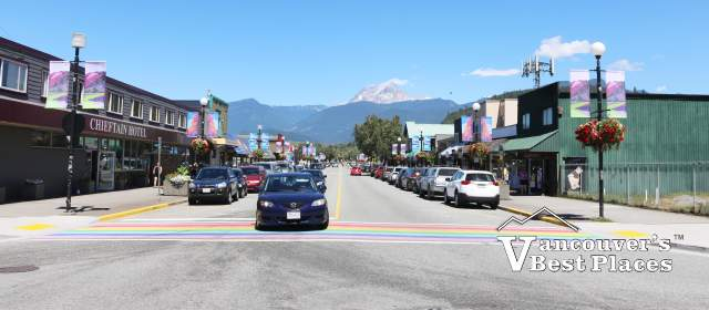 Downtown Squamish on Cleveland Avenue
