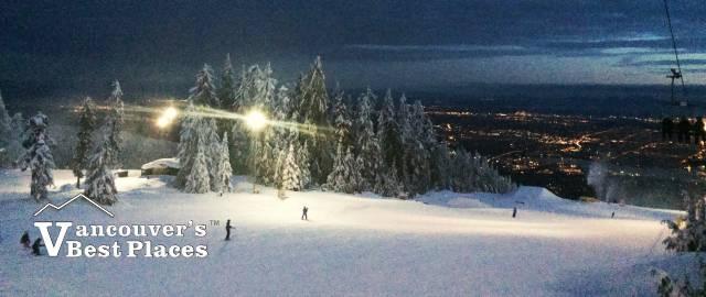 Night Skiing at Grouse Mountain