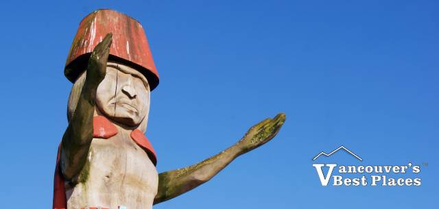 Squamish Nation Welcome Figure at Ambleside