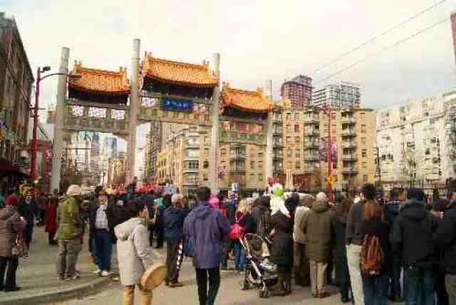 Vancouver Chinatown at New Year