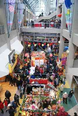 Vancouver's International Village at Chinese New Year