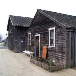 Historic buildings at the Britannia Shipyard heritage site