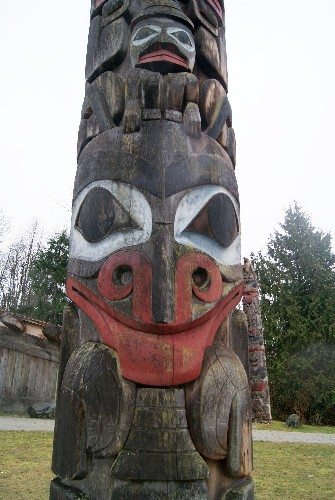 Exterior of the Museum of Anthropology on a rainy day