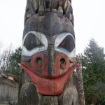 Totem outside Museum of Anthropology at UBC