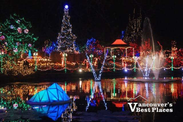 Christmas Lights at VanDusen Garden - VanDusen Festival Of Lights 2018 Vancouver's Best Places
