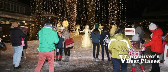 People at Heritage Christmas at Burnaby Village