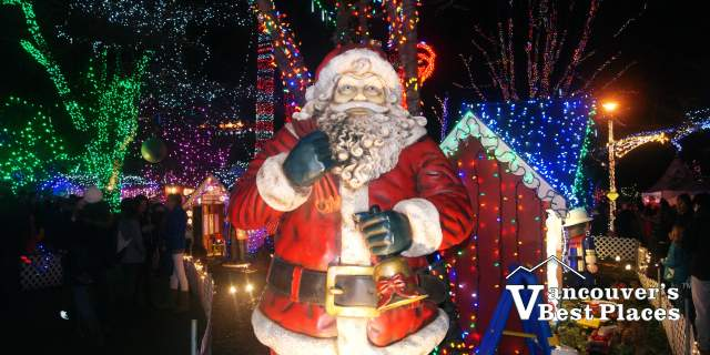 Santa at Bright Nights at Stanley Park