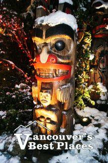 Winter Totem at Capilano Bridge