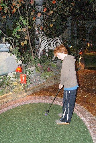 Mini-golf at Castle Fun Park