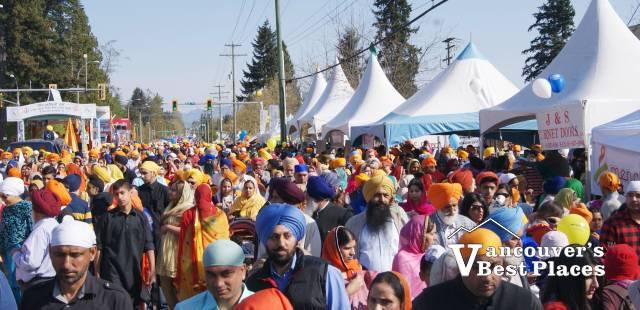 Crowds at Surrey Vaisakhi Parade