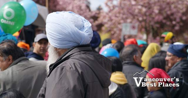 People and Blossoms at Vaisakhi Parade