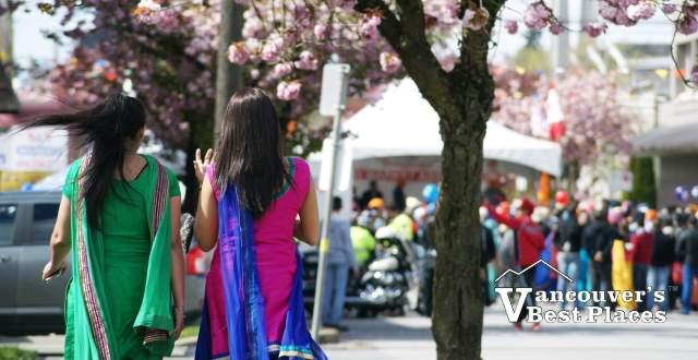 Walking to the Vaisakhi Parade