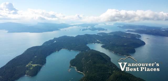 Gulf Islands Aerial View