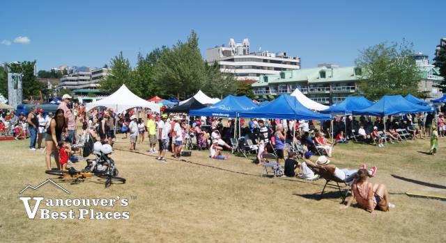 Crowds Enjoying Canada Day