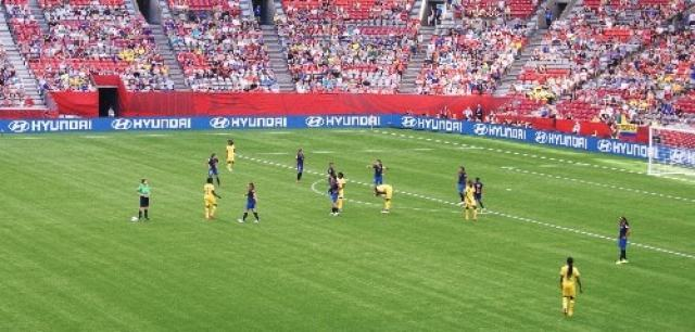 Ecuador vs Cameroon Soccer Field
