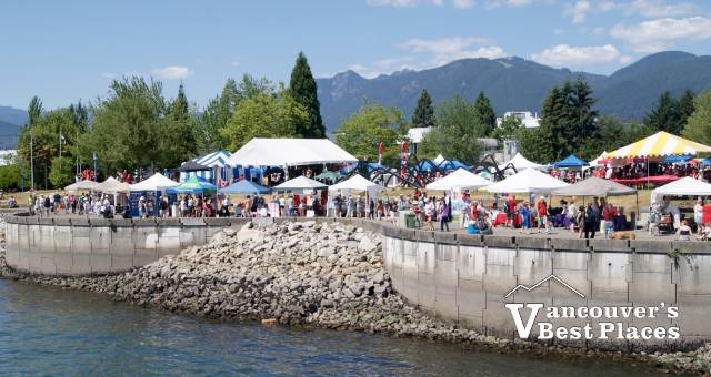 Waterfront Park Seawall on Canada Day