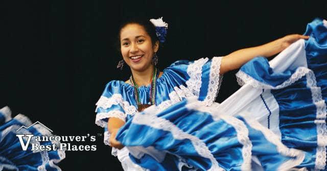 Folklore Dancer at Carnaval del Sol