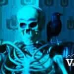 Burnaby Haunted Village Skeleton