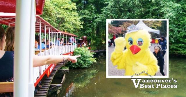 Stanley Park Train and Easter Chick Mascot