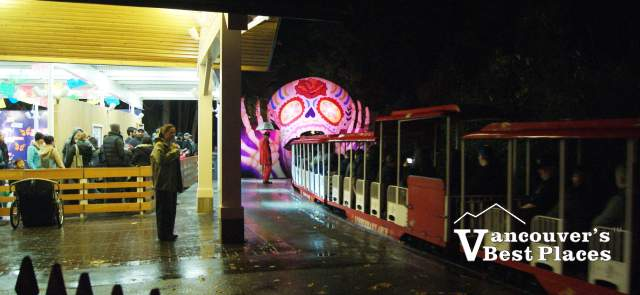 Stanley Park Train at Halloween