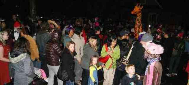Halloween Crowds at Parade of Lost Souls