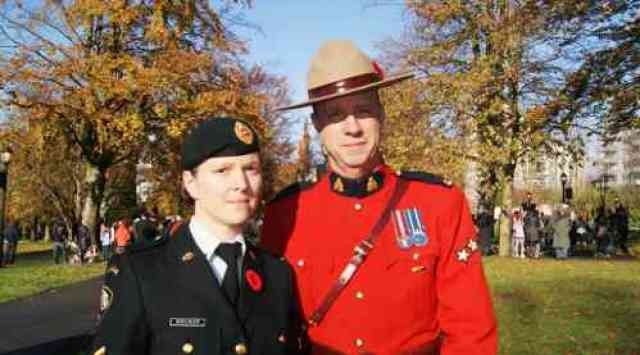 Remembrance Day Officers in Uniform