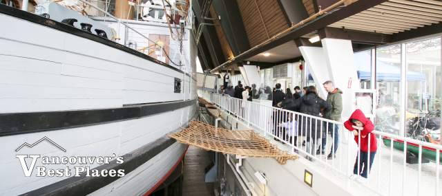 St Roch Line up at Maritime Museum