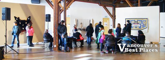 Talking Stick Festival Roundhouse Art Displays