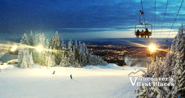 The Cut at Night at Grouse Mountain