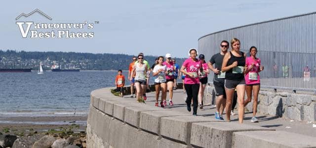 Runners on Stanley Park Seawall