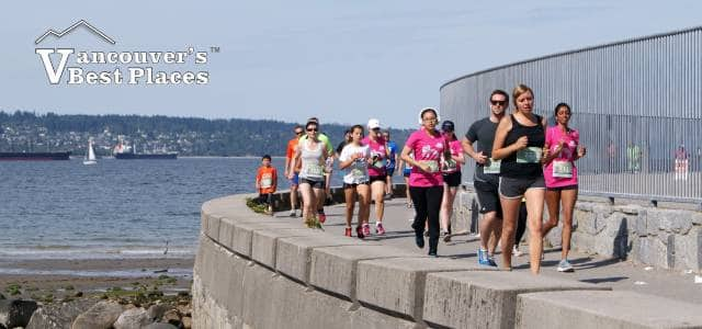 Runners on Stanley Park Seawall