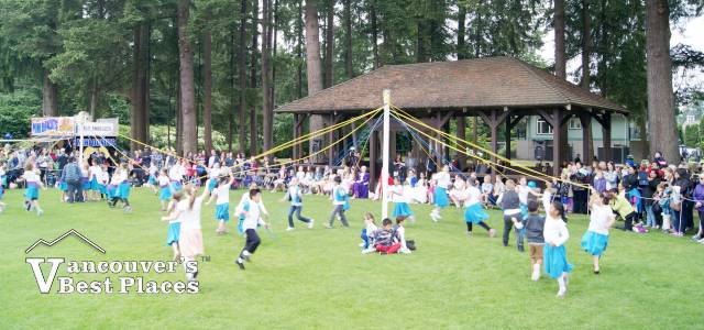 May Pole Dancing at Fort Langley Park