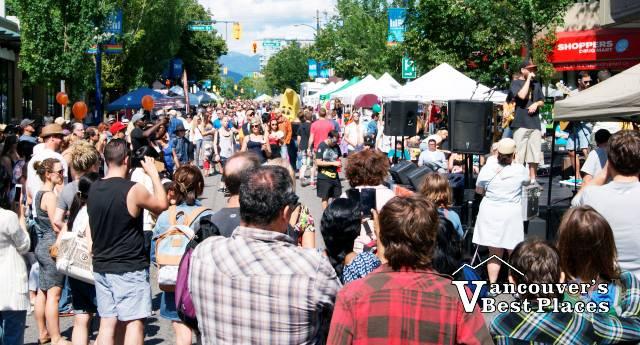 Car Free Festivities on Denman Street
