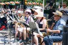 Hats Off Day Sidewalk Band