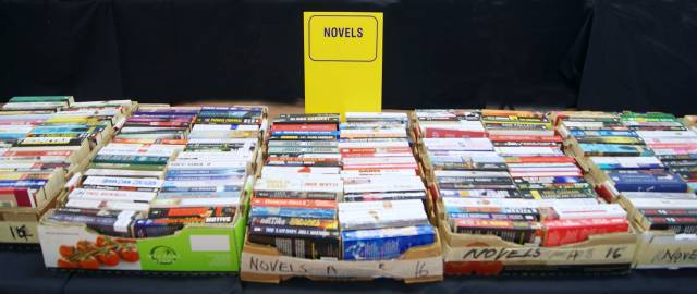 Books at the Rotary Book Sale