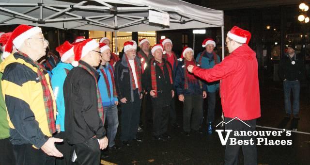 Male Choir in Gastown