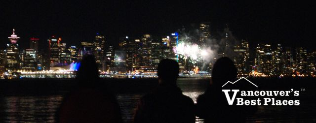 Fireworks View from Waterfront Park