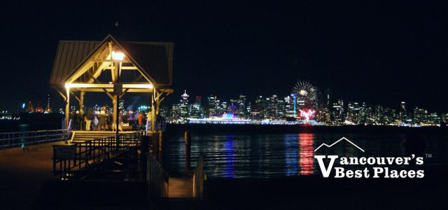 Waterfront Park on Fireworks Night