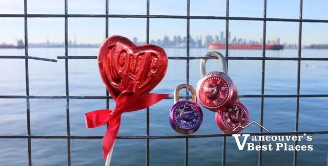 Valentine's Locks at Lonsdale Quay