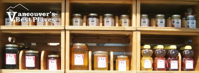 Farmers Market Honey Display
