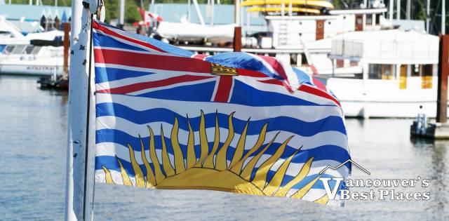BC Flag in Coal Harbour