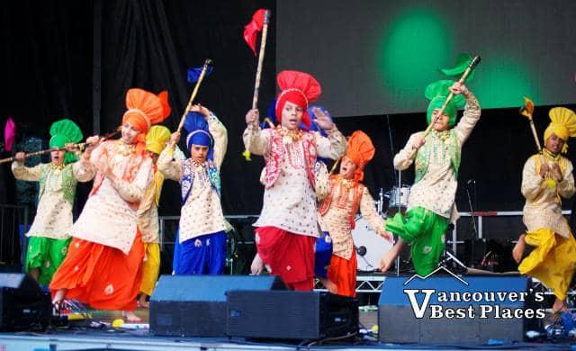 Boys Dancing at City of Bhangra Festival
