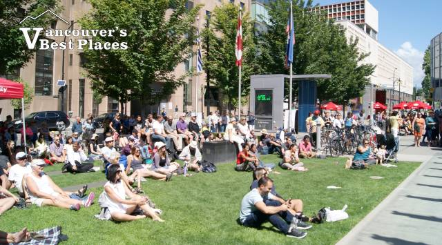 Concert Audience at CBC Plaza