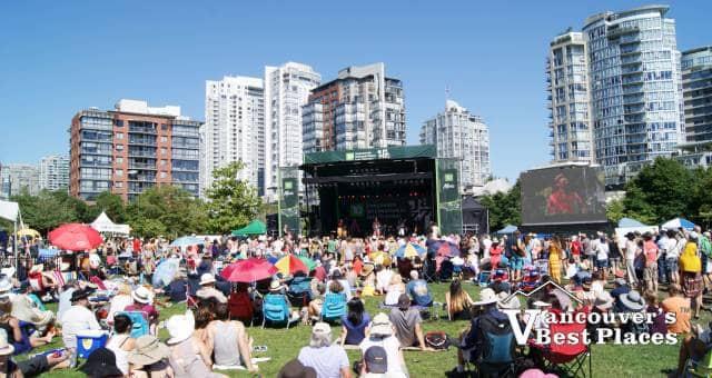 Jazz Fans on Lawns at David Lam Park